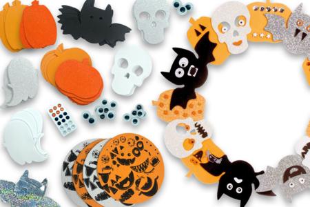 Mega pack formes d'Halloween mousse - Décorations à coller – 10doigts.fr