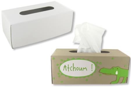 Couvre-boite à mouchoirs en carton fort blanc - Déco de la maison – 10doigts.fr