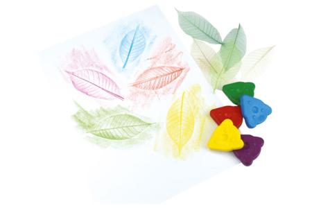 Craies de cire ergonomiques pour enfants - Crayons cire – 10doigts.fr