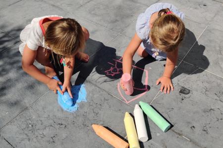Craies de trottoir XXL - 6 couleurs - Craies, tableaux, ardoises – 10doigts.fr