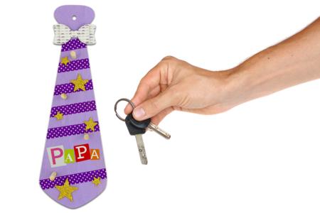 Cravate porte-clés #1 - Fête des Pères – 10doigts.fr