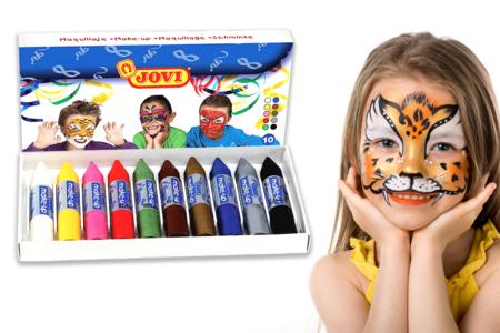 Crayons de maquillage JOVI - Set de 10 - Maquillage – 10doigts.fr