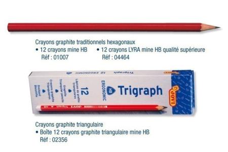 Crayons graphite héxagonaux ou triangulaires - Crayons graphite – 10doigts.fr