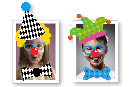Crazy Stickers : Déguise-toi en clown ! - Set de 208 stickers - Expressions et Visages autocollants – 10doigts.fr