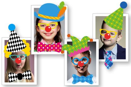 Crazy Stickers : Déguise-toi en clown ! - Expressions et Visages autocollants – 10doigts.fr