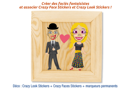 Crazy Look Stickers - Crazy Look & Crazy Face Stickers – 10doigts.fr