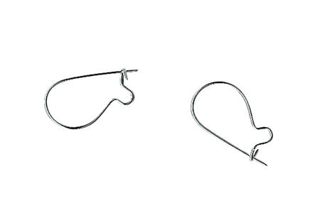 Crochets d'oreille argentés - Lot de 10 - Boucles et pendentifs d'oreilles – 10doigts.fr