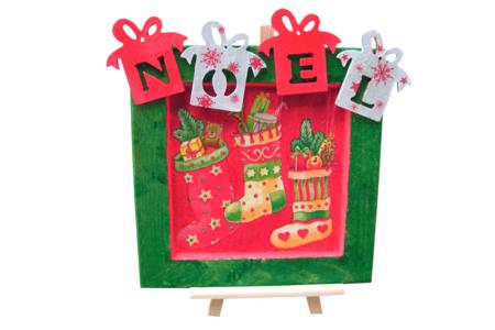 "Cadeaux ""NOEL"" en bois naturel - Set de 4 - Motifs brut – 10doigts.fr"