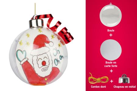 Boules en plastique transparent 3 en 1 - Décos de Noël à suspendre – 10doigts.fr