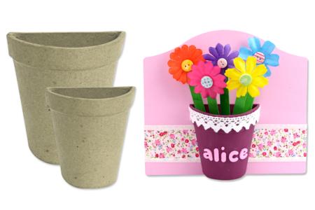 Demi-pots en carton papier maché - Pots, vases en carton – 10doigts.fr