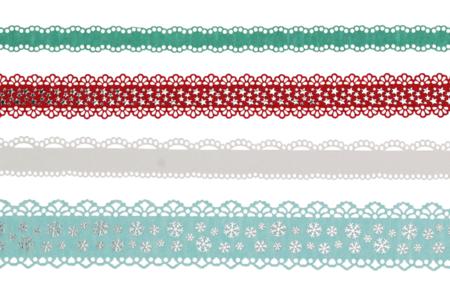 Dentelle adhésive en papier - Hiver - Masking tape (Washi tape) – 10doigts.fr