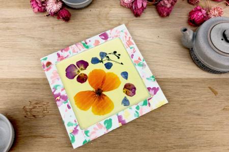 Dessous de plat fleurs séchées - Cadres, tableaux – 10doigts.fr