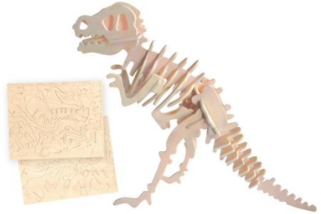 Dinosaure 3D en bois naturel à monter - Maquettes en bois – 10doigts.fr