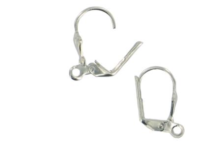 Dormeuses à anneaux argentées - Lot de 4 - Boucles et pendentifs d'oreilles – 10doigts.fr