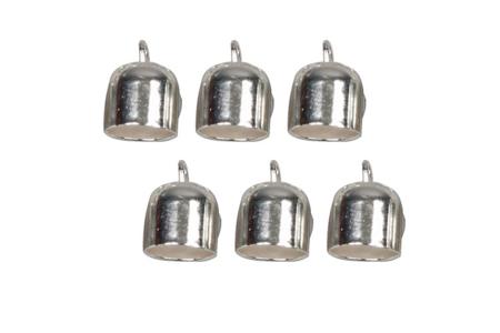Embouts argentés en métal - Lot de 6 - Cache-noeud – 10doigts.fr