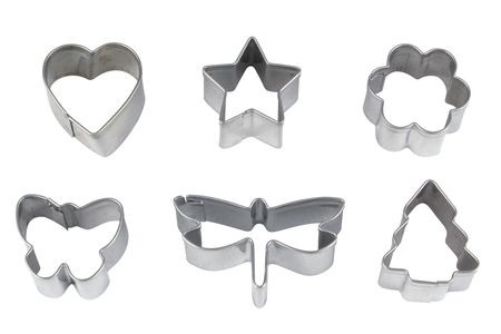 Emporte-pièces métal - Set de 6 formes - Emporte-pièces – 10doigts.fr