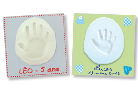 Tableau empreinte bébé 15x15 cm - Empreinte – 10doigts.fr