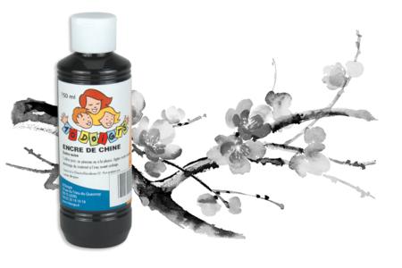 Encre de Chine extra noire - 250 ml - Encres liquides – 10doigts.fr