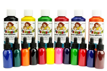 Encre de chine colorée - Encres liquides – 10doigts.fr