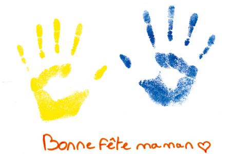 Tableau empreinte de la main - Activités enfantines – 10doigts.fr