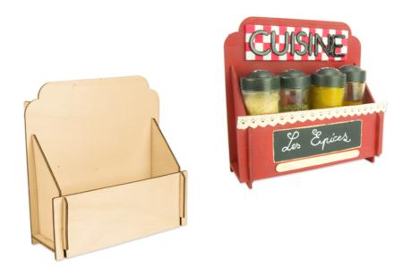 Étagère à épices en bois à monter - Cuisine et vaisselle – 10doigts.fr