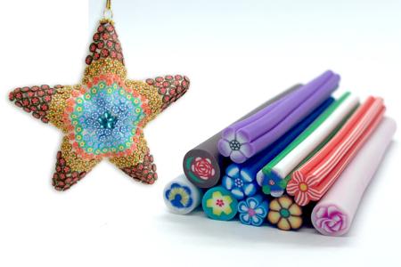 Canes fleurs - 10 motifs - Décorations Fimo – 10doigts.fr