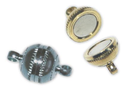 Fermoirs magnétiques ronds Argent - Lot de 4 - Fermoirs – 10doigts.fr