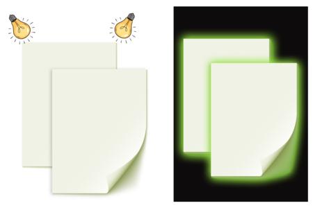 Papier phosphorescent adhésif - 2 feuilles - Papiers Unis – 10doigts.fr
