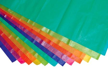 Papier de soie irisées - 12 feuilles assorties - Papiers de soie – 10doigts.fr