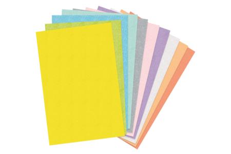 Feutrines couleurs pastel assorties - Set de 10 - Feutrine, feutre, toile de jute – 10doigts.fr