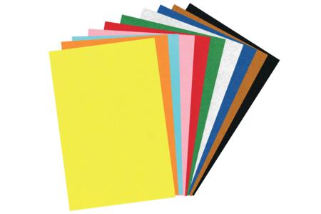 Feutrine 20 x 30 cm - 10 couleurs assorties - Feutrine, feutre, toile de jute – 10doigts.fr