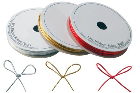 Cordon polyester métallisé : or, argent et rouge - Fils métallisés et câbles – 10doigts.fr