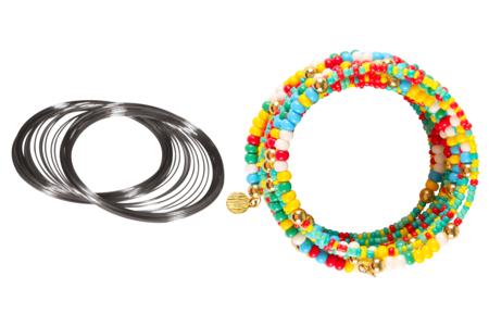 Fil métal argenté à mémoire de forme - Bracelets – 10doigts.fr