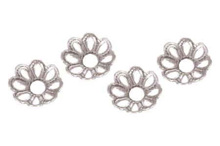 Décors argentés pour perles - 20 décors - Perles intercalaires & charm's – 10doigts.fr