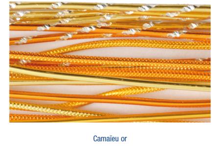 Fils aluminium fantaisie doré - 27 fils - Fils aluminium – 10doigts.fr