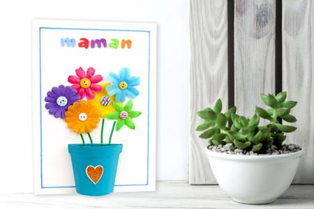 Tableau Fleurs pour la fête des mères - Fête des Mères – 10doigts.fr