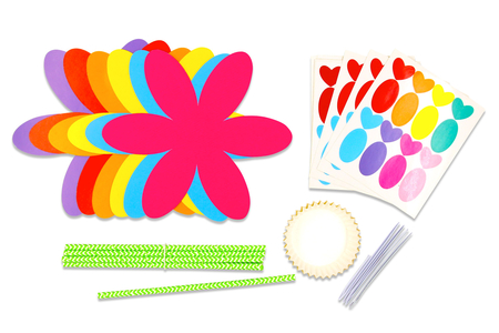 """Kit fabrication fleurs cadre photos - 12 fleurs - Kits activités """"Cadeau à offrir"""" – 10doigts.fr"""