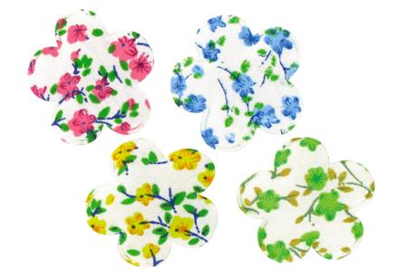 Fleurs en tissu molletonné fleuri - Set de 8 - Motifs en tissu molletonné – 10doigts.fr