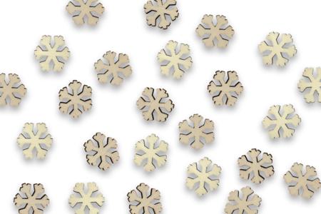 Flocons en bois - Lot de 50 - Motifs brut – 10doigts.fr