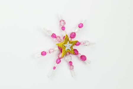Flocons de neige en perles - Noël – 10doigts.fr