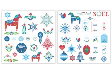 Formes en papier Noël - 50 pièces - Décorations à coller – 10doigts.fr