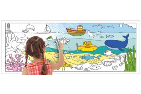 Fresque géante à colorier - Thèmes au choix - Support pré-dessiné – 10doigts.fr