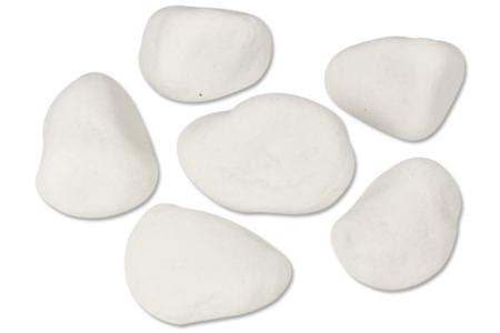 Galets en marbre blanc - Lot de 6 - Galets et coquillages – 10doigts.fr