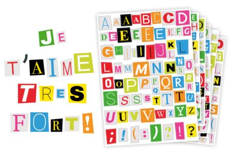 Gommettes Lettres de Magazine - Bullet Journal, Planner – 10doigts.fr