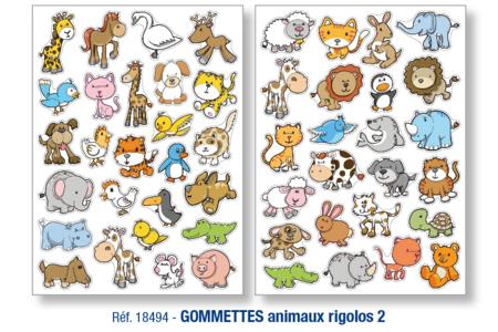 Gommettes animaux rigolos - Set de 50 - Gommettes animaux – 10doigts.fr