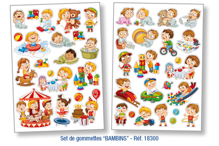 Gommettes Bambins - Gommettes fantaisie – 10doigts.fr