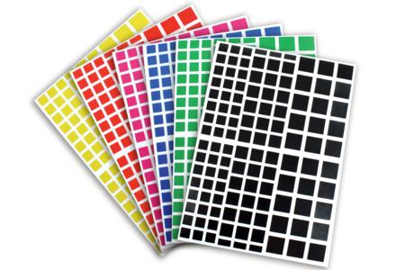 Gommettes carrées - 18 planches - Gommettes – 10doigts.fr