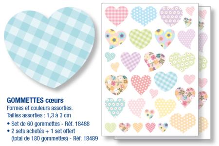 Gommettes coeurs - Gommettes coeurs – 10doigts.fr