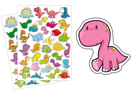 Gommettes dinosaures - 2 planches - Gommettes Animaux – 10doigts.fr