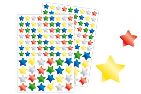 Gommettes étoiles métallisées - Set de 174 gommettes - Gommettes de fêtes – 10doigts.fr